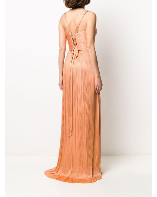 Maria Lucia Hohan Georgia イブニングドレス Orange