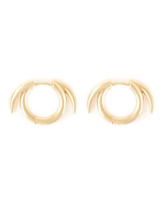 Shaun Leane - Metallic Thorned Hoop Earrings - Lyst