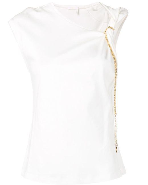 Chloé ノットディテール Tシャツ White
