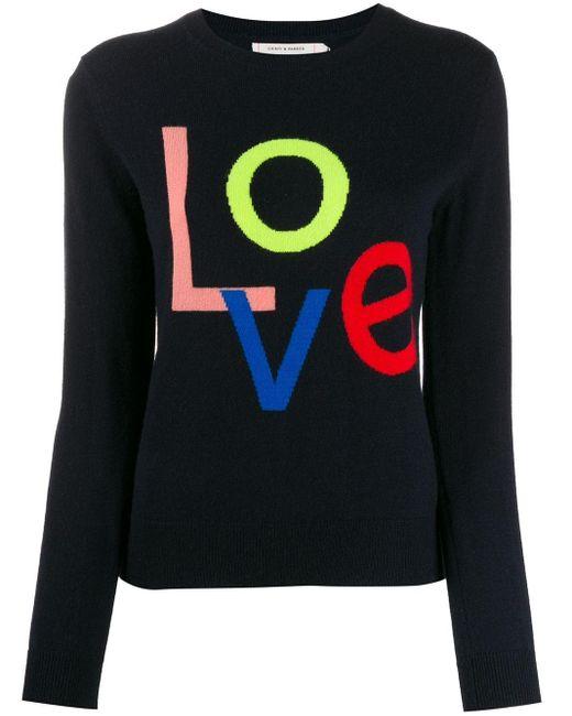 Chinti & Parker Love カシミア セーター Blue