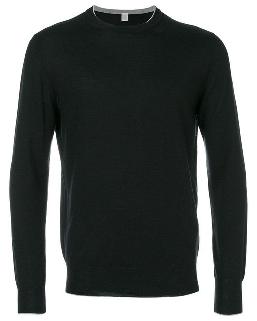Eleventy | Black Long-sleeved Sweater for Men | Lyst