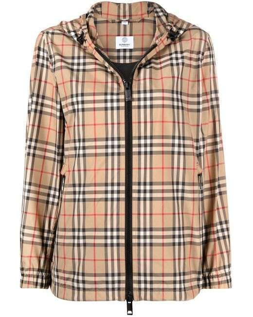 Burberry Multicolor Vintage Check Hooded Jacket