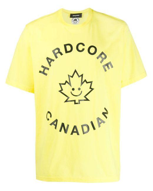 メンズ DSquared² Hardcore Canadian Tシャツ Yellow