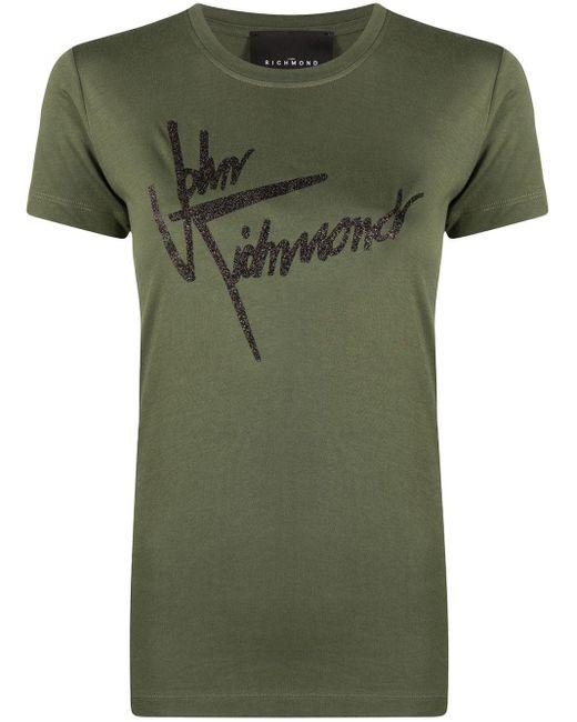 John Richmond ロゴ Tシャツ Green