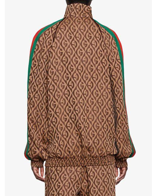 Gucci Gg ジャカードジップアップスウェットシャツ Brown