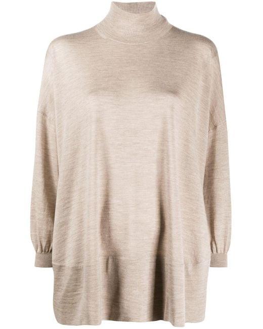 Agnona オーバーサイズ タートルネックセーター Natural