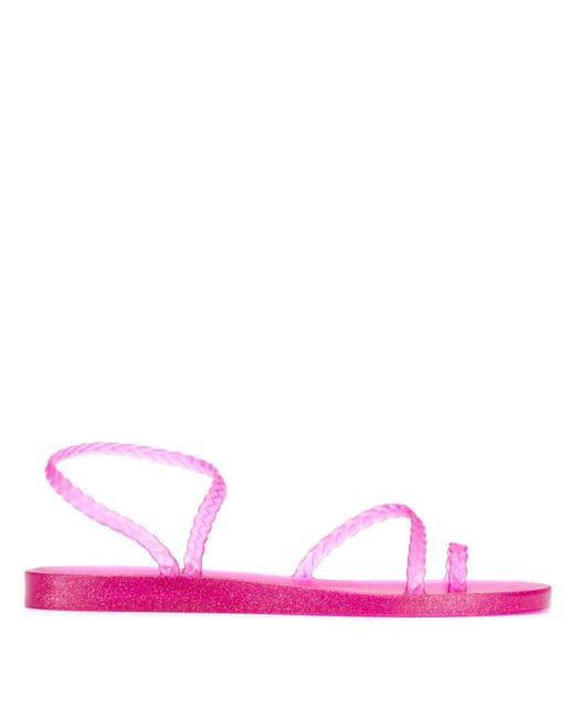 Ancient Greek Sandals Sandalias de estilo griego de mujer de color rosa