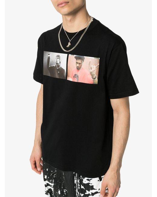 メンズ 424 Liam Del プリント Tシャツ Black