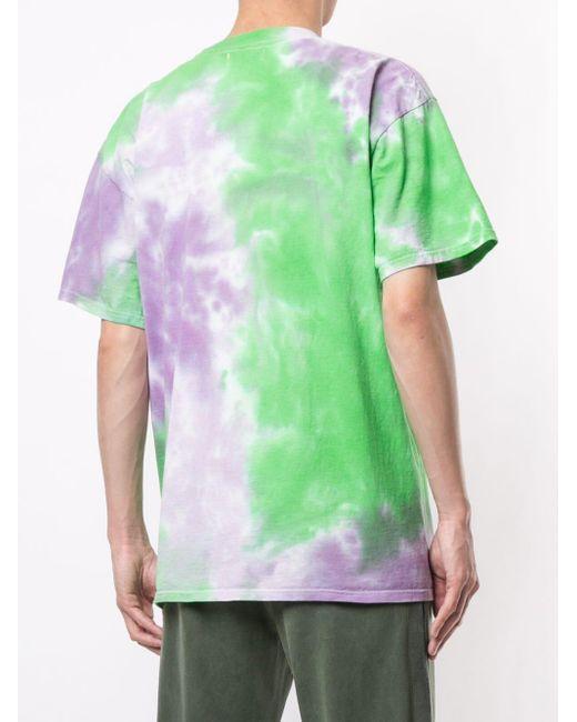 メンズ Chinatown Market スマイリー タイダイ Tシャツ Green