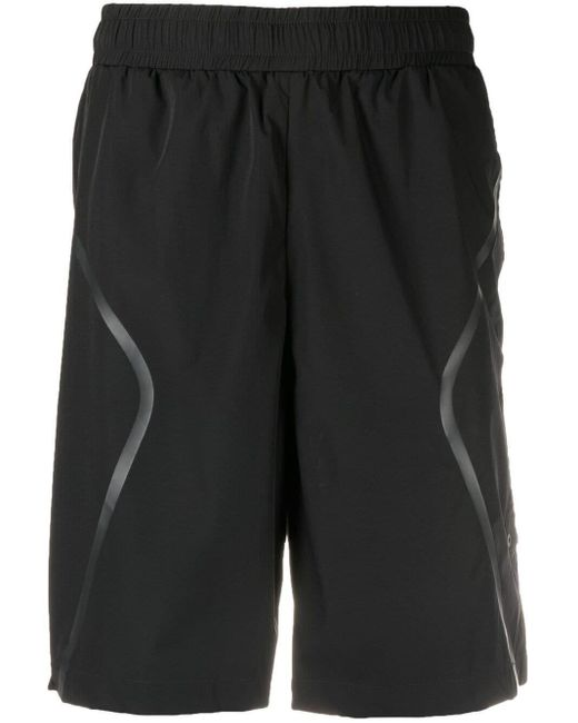 A_COLD_WALL* Black Elasticated Track Shorts for men