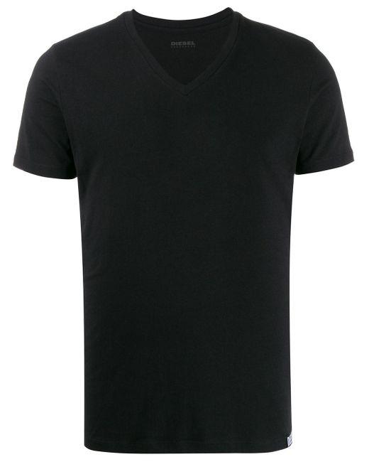 メンズ DIESEL Vネック Tシャツ Black