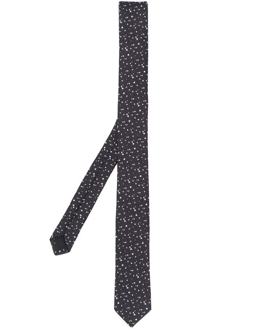 Галстук С Узором Saint Laurent для него, цвет: Black