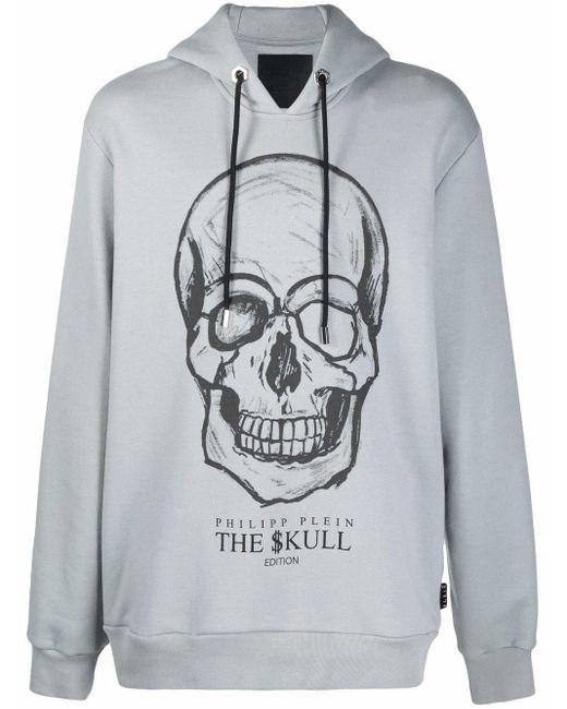 Philipp Plein Gray The Skull Hoodie for men