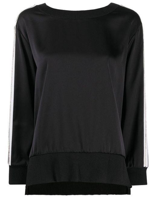 Twin Set Vネック スウェットシャツ Black