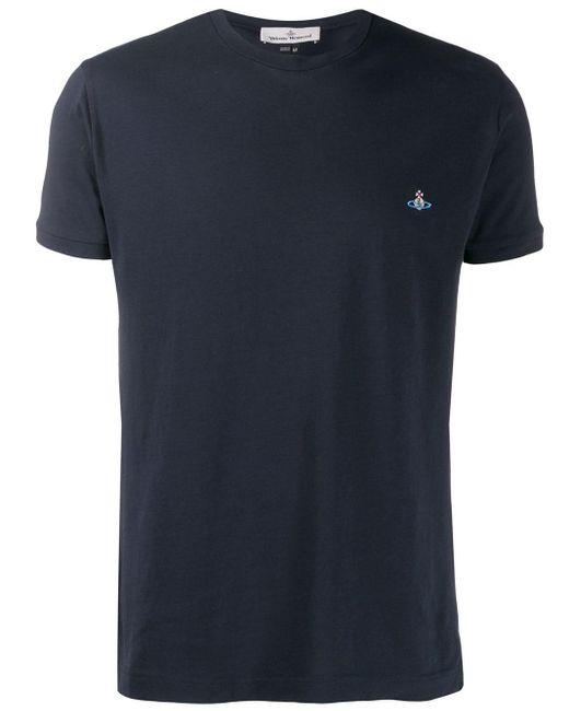 メンズ Vivienne Westwood クルーネック Tシャツ Blue
