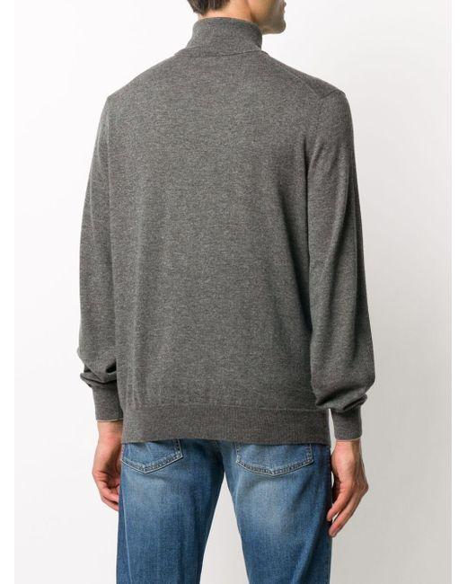 Джемпер С Отделкой В Рубчик Brunello Cucinelli для него, цвет: Gray