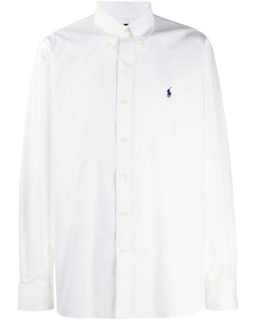 メンズ Polo Ralph Lauren ポプリン シャツ White