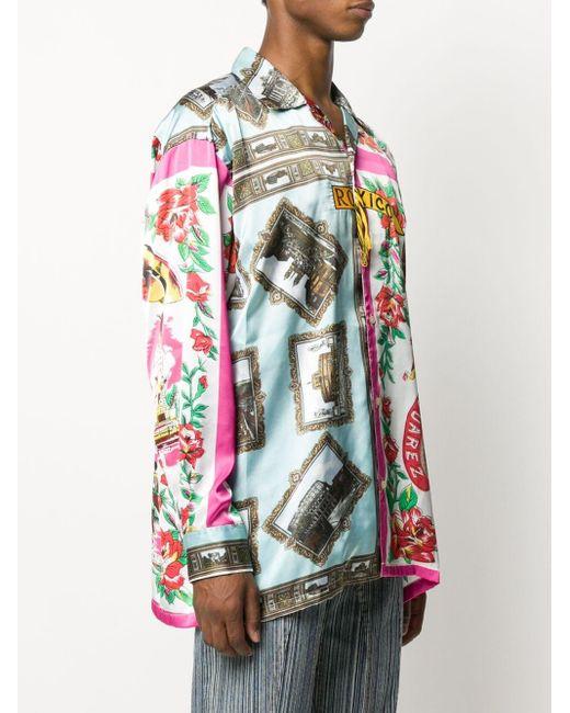 メンズ Doublet Roma/mexico プリント シャツ Multicolor