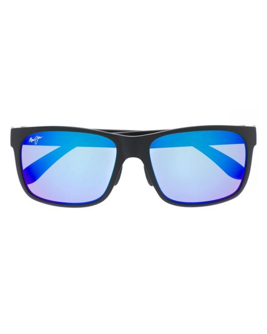 Maui Jim スクエアフレーム サングラス Blue