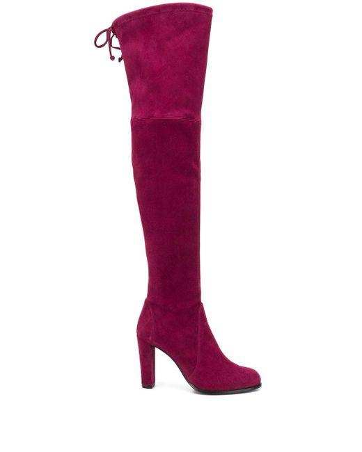 Ботфорты Highland Stuart Weitzman, цвет: Purple