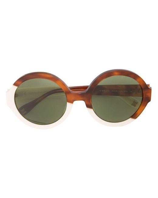 ea717e23d3 Lyst - Gafas de sol con montura redonda Carolina Herrera de color Marrón