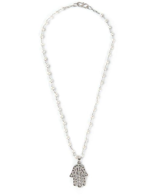 Natasha Zinko | Metallic Hamsa Necklace | Lyst