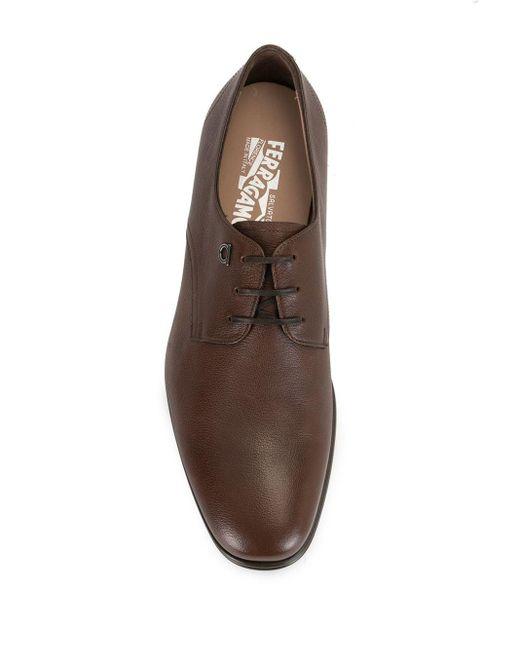Туфли Оксфорды Ferragamo для него, цвет: Brown