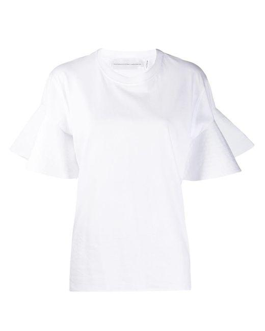 Victoria Beckham フルートスリーブ Tシャツ White
