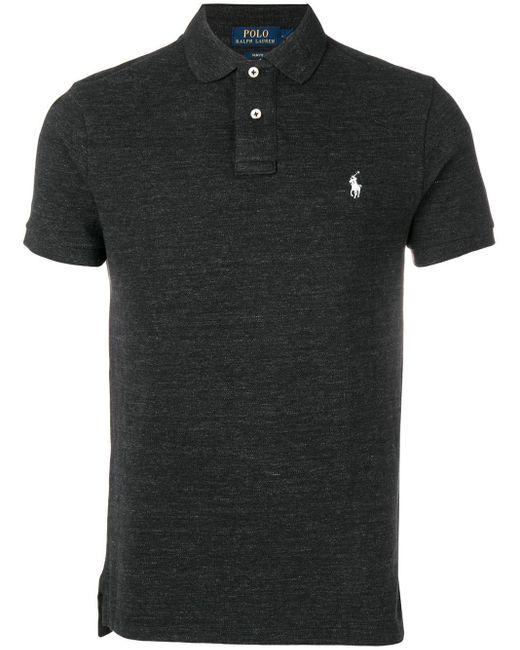 メンズ Polo Ralph Lauren スリム ポロシャツ Black