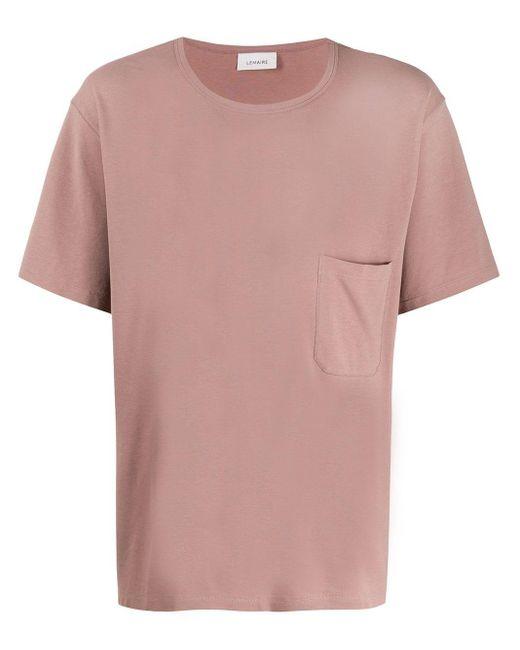 メンズ Lemaire パッチポケット Tシャツ Pink