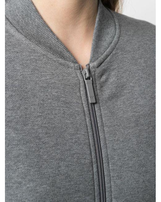 Emporio Armani ロゴ ジップ スウェットシャツ Gray