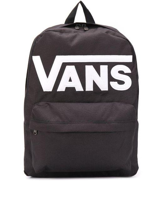 メンズ Vans ロゴ バックパック Black