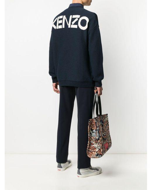 メンズ KENZO ロゴ プルオーバー Blue