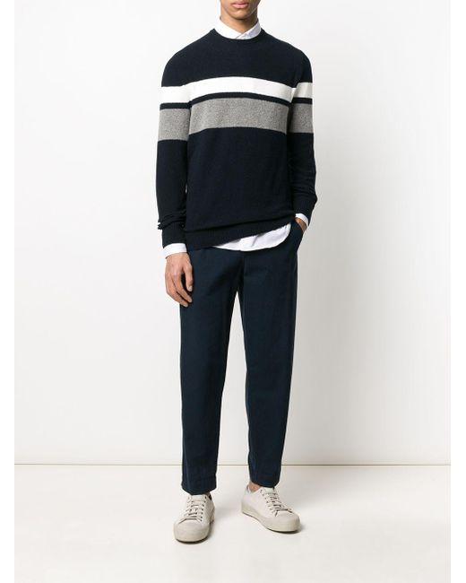 メンズ Eleventy ストライプ セーター Blue