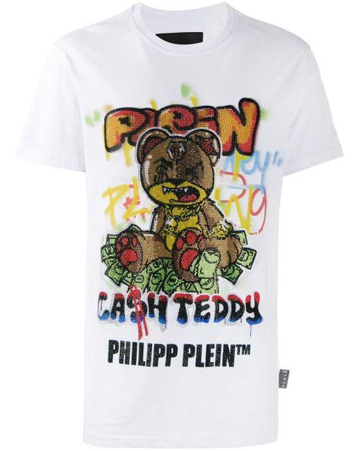 メンズ Philipp Plein テディベア Tシャツ Multicolor