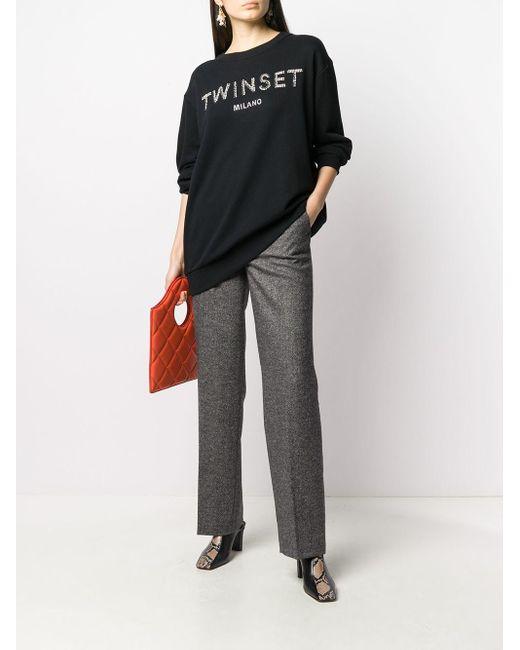 Twin Set ビジュー スウェットシャツ Black