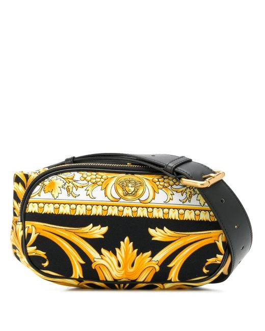 メンズ Versace バロックプリント ベルトバッグ Yellow