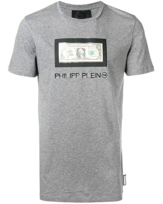 メンズ Philipp Plein パッチ Tシャツ Gray