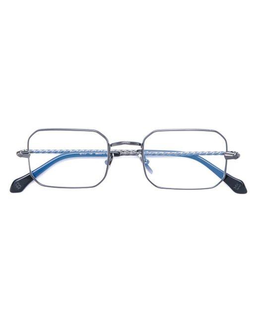 メンズ Brioni スクエア 眼鏡フレーム Blue
