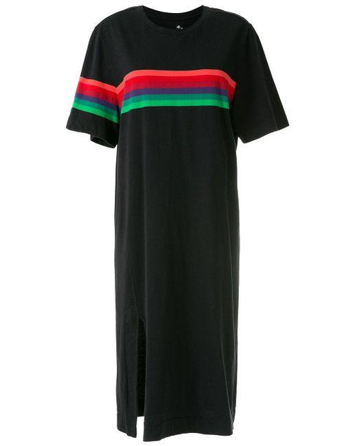 Osklen ストライプ ドレス Black