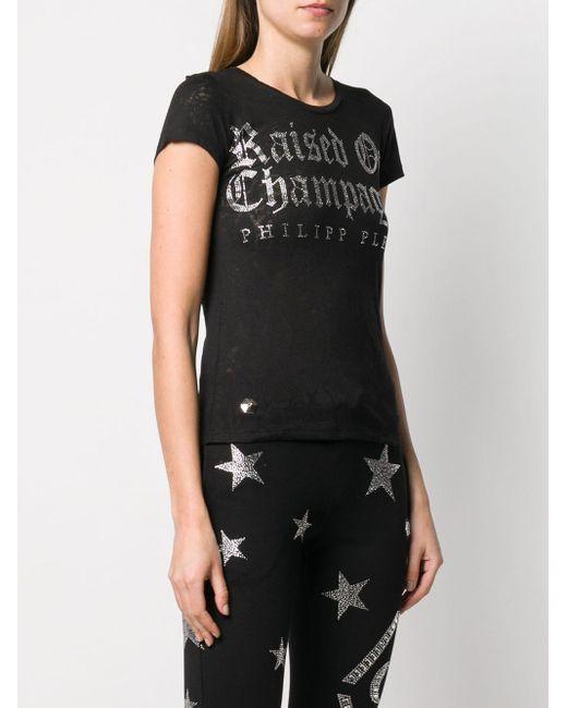 T-shirt à détail de slogan Philipp Plein en coloris Black