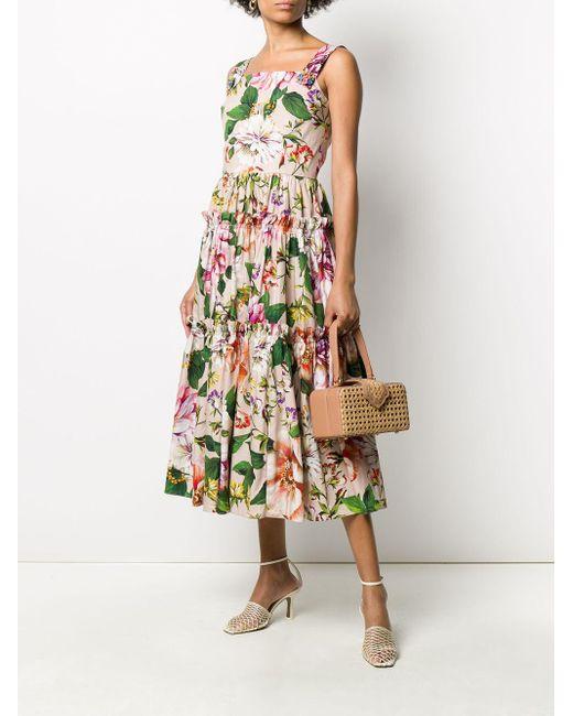Dolce & Gabbana フローラル ノースリーブドレス Pink