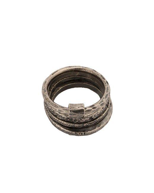 Tobias Wistisen - Metallic Multiple Rings for Men - Lyst