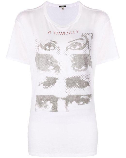 R13 プリント Tシャツ Metallic