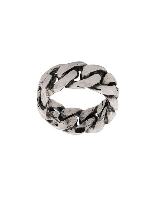 Rigid Curb Chain-style Ring Emanuele Bicocchi, цвет: Metallic