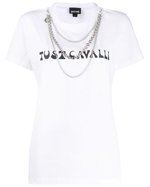 Just Cavalli ロゴ Tシャツ White
