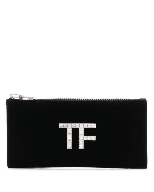 Tom Ford ロゴプレート クラッチバッグ Black