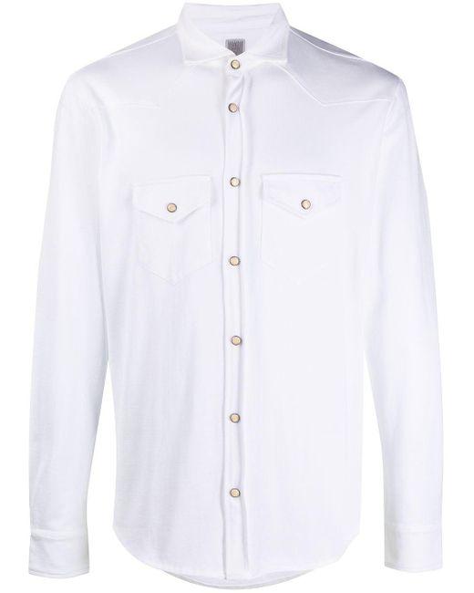 メンズ Eleventy チェストポケット シャツ White