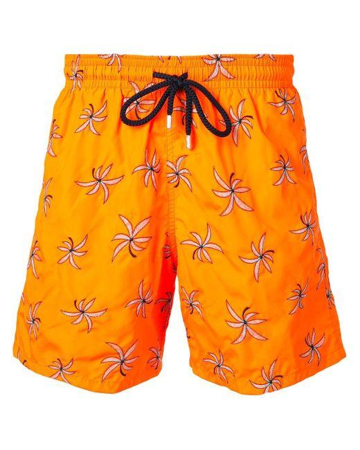 メンズ Vilebrequin フローラル トランクス水着 Orange
