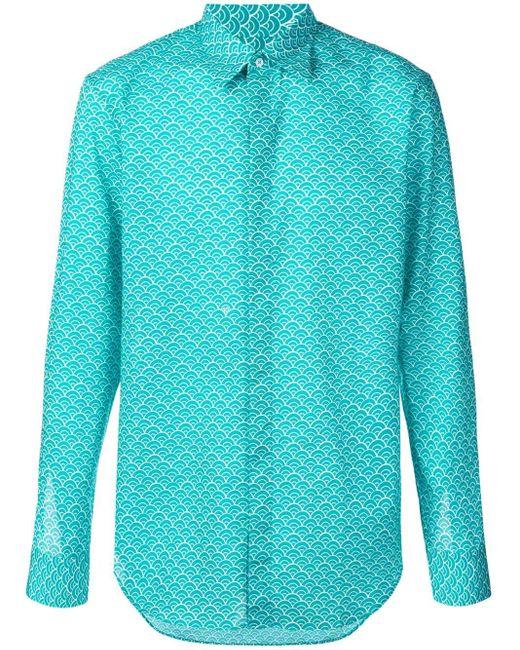 メンズ Maison Margiela パターン シャツ Blue